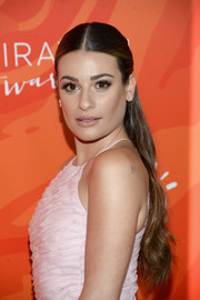 Lea Michele graced the Inspiration Awards wearing her hair in a half-up, center-parted style.