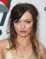 Francesca Eastwood went rocker-glam with this messy half-up style at the Janie's Fund Gala.