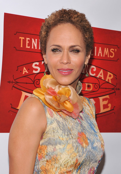 Nicole Ari Parker wore her hair in a short curly style at the opening of 'A Streetcar Named Desire.'