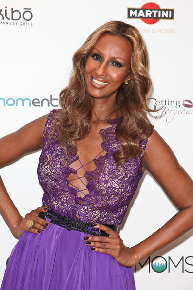 Iman attended the Fashionable Mom Show wearing a rich dark coffee-hued nail polish.