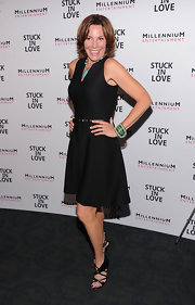LuAnn de Lesseps wore a sleeveless fit-and-flare LBD to the premiere of 'Stuck in Love.'