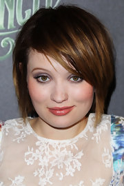 Emily Browning finished off with a trendy emo cut.
