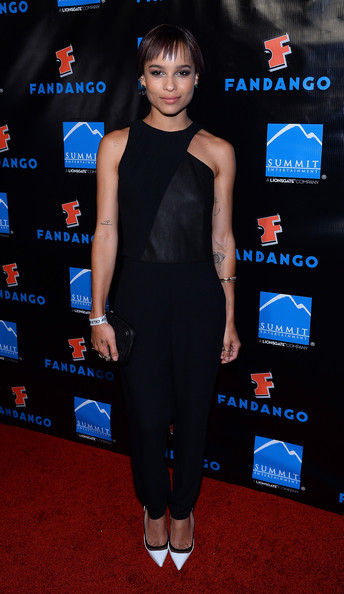 More Pics of Zoe Kravitz Bobby Pinned Updo (1 of 7) - Bobby Pinned Updo Lookbook - StyleBistro
