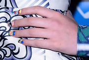 Hailee had fun with her nails at Comic-Con  International 2013 when she donned colorful, comic book-print nails.