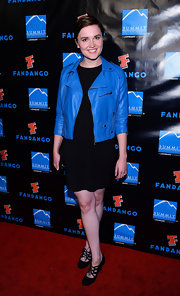 A classic little black dress acted a great base piece for Veronica's red carpet ensemble.