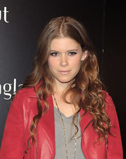 Kate Mara showed off her long red curls while attending the Sunglass Hut store opening in NYC.