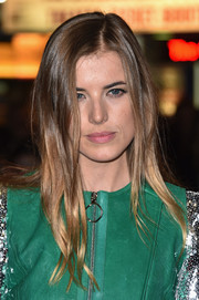 Agyness Deyn attended the BFI London Film Fest screening of 'Sunset Song' wearing a loose 'do with just the slightest hint of wave.