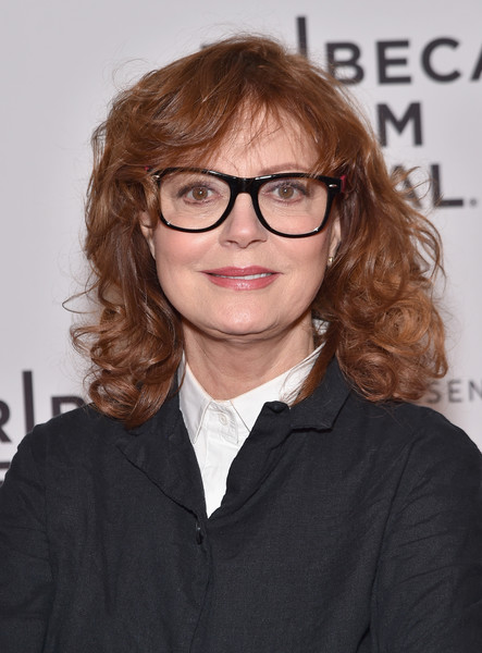 Susan Sarandon Medium Curls with Bangs - Shoulder Length Hairstyles ...