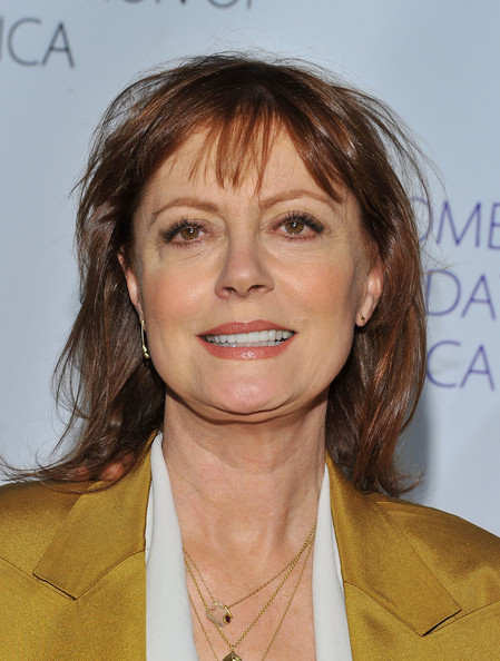 Susan Sarandon Medium Straight Cut with Bangs