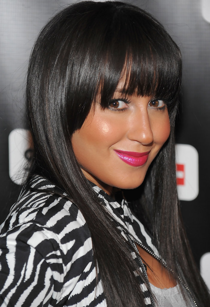 More Straight Guys Here Follow: More Pics Of Adrienne Bailon Long Straight Cut With Bangs