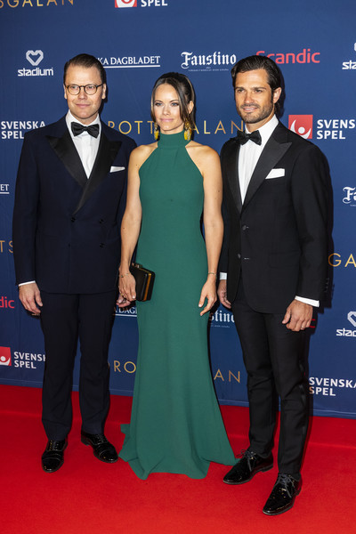 Princess Sofia donned a stylish green halter gown for the Sweden Sports Gala 2020.