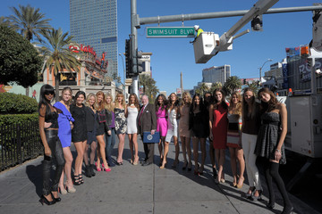 "Alyssa Miller  Kate Upton ""Swimsuit Blvd"" Dedicated in Las Vegas With SI Swimsuit Models"