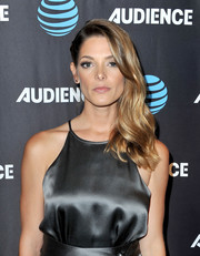 Ashley Green looked elegant wearing her wavy hair swept to the side at the AT&T Audience Network TCA event.