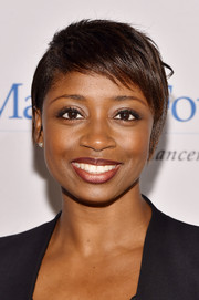 Montego Glover sported a cute pixie at the 2014 New York World Tour of Wine.