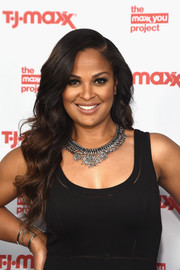 Laila Ali looked perfectly glam with this long wavy 'do at the T.J. Maxx event.