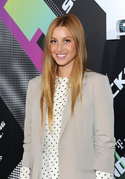 Whitney Port styled her hair in a sleek straight cut at the T-Mobile launch party.