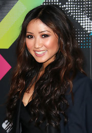 Brenda Song parted her curls down the center at the T-Mobile launch event.