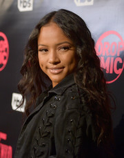 Karrueche Tran looked youthful and cute with her long curls at the 'Drop the Mic' and 'The Joker's Wild' premiere party.