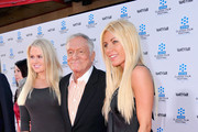 Hugh Hefner and Anna Sophia Berglund Photo