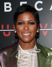 Tamron Hall attended the TDI Awards wearing her hair in a pixie cut.