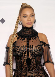 Beyonce Knowles rocked an ultra-long braid during Tidal X: 1015.