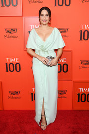 Sophia Bush looked regal in a mint-green wrap gown by J. Mendel at the 2019 Time 100 Gala.