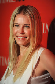 Chelsea Handler wore her hair in a smooth, straight style for the 'Time' 100 Gala.