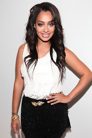 A chic gold and diamond bracelet added a touch of glamour to La La Anthony's ensemble.
