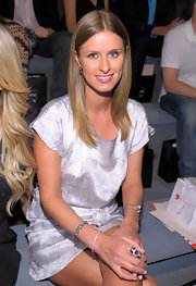 Nicky Hilton attended the Charlotte Ronson Spring 2011 Fashion Show wearing a Sterling Silver and Cubic Zirconia bracelet from her new collection.
