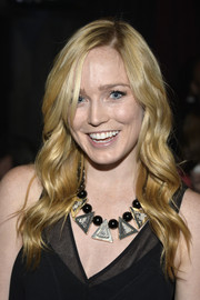 Caity Lotz looked enchanting with her boho-glam waves during the TV Guide Magazine Hot List Party.