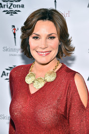 LuAnn de Lesseps showed off a stylish razor cut at the Arizona Beverages SkinnyGirl Sparklers launch party.