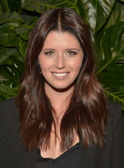 Katherine Schwarzenegger wore her hair with a center part and just a hint of wave during the Riviera at the Roosevelt event.
