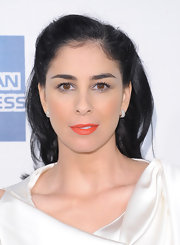 Sarah Silverman brightened her look with a fab coral lipstick for the 'Take This Waltz' premiere.