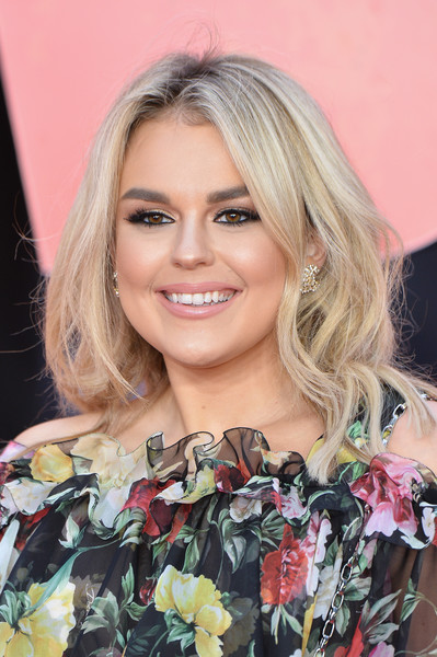 Tallia Storm Teased [european premiere of rampage,hair,face,blond,hairstyle,eyebrow,lip,beauty,long hair,chin,eyelash,red carpet arrivals,tallia storm,rampage,european,england,london,cineworld leicester square,premiere]