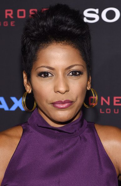 Tamron Hall Fauxhawk [the equalizer,hair,face,hairstyle,eyebrow,lip,black hair,beauty,chin,forehead,long hair,arrivals,tamron hall,new york,amc lincoln square theater,premiere]