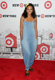 Marsha paired her ballet flats with a cool jean jumpsuit while attending the opening of Target.