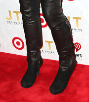 Holly Robinson Peete topped off her rock-inspired look with these leather ankle boots.