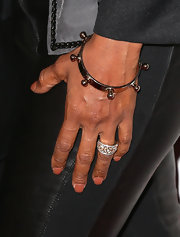 Holly Robinson Peete topped off her rock star-style with this funky studded bracelet.