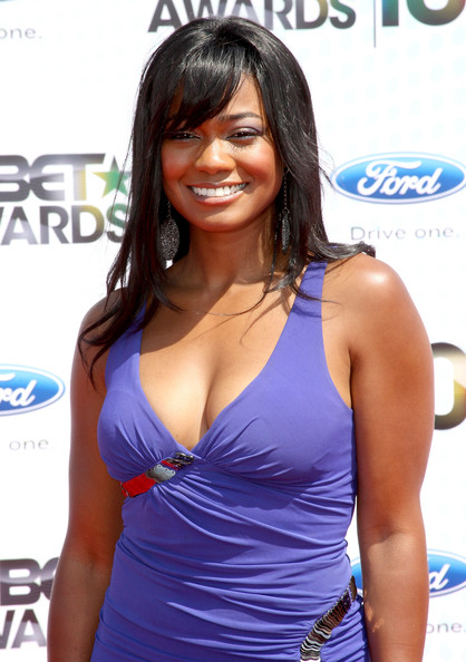 Tatyana Ali Long Straight Cut with Bangs
