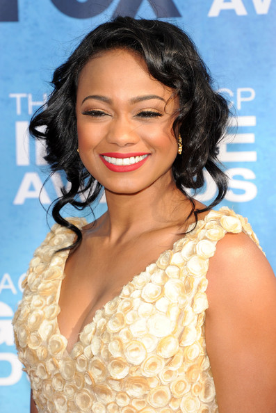 Tatyana Ali Pinned Up Ringlets