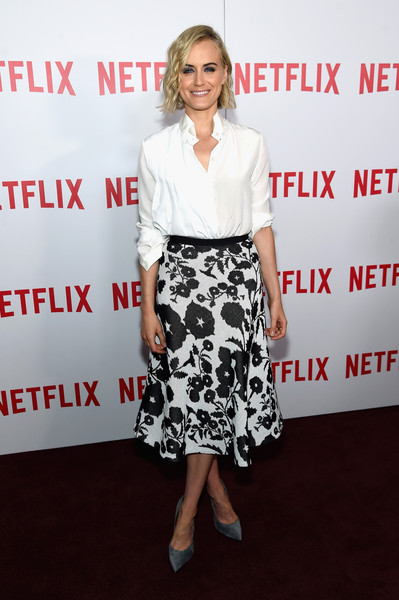 Taylor Schilling Pumps [orange is the new black,flooring,fashion model,fashion,carpet,girl,product,red carpet,cocktail dress,fashion design,premiere,taylor schilling,new york city,dga theater,fyc,fyc screening,screening]