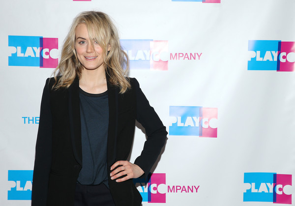 More Pics of Taylor Schilling Medium Wavy Cut (1 of 9) - Shoulder Length Hairstyles Lookbook - StyleBistro [photo,carpet,premiere,outerwear,flooring,event,electric blue,media,long hair,taylor schilling,actress,cabaret gourmet,new york city,espace,taylor schilling hosts 2015 play company,event]