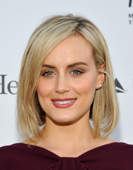 Taylor Schilling Graduated Bob [annual reel stories,real lives benefiting the motion picture television fund,hair,face,hairstyle,blond,eyebrow,shoulder,chin,lip,beauty,layered hair,taylor schilling,california,hollywood,milk studios]