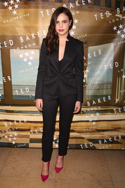 Bailee Madison donned a sleek and sophisticated black pantsuit for the Ted Baker London SS'16 launch event.