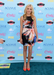 Peyton got graphic at the 2013 Teen Choice Awards where she wore this multi colored graphic print dress.