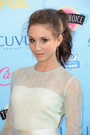 Troian's flouncy ponytail kept her look cool and contemporary on the red carpet.