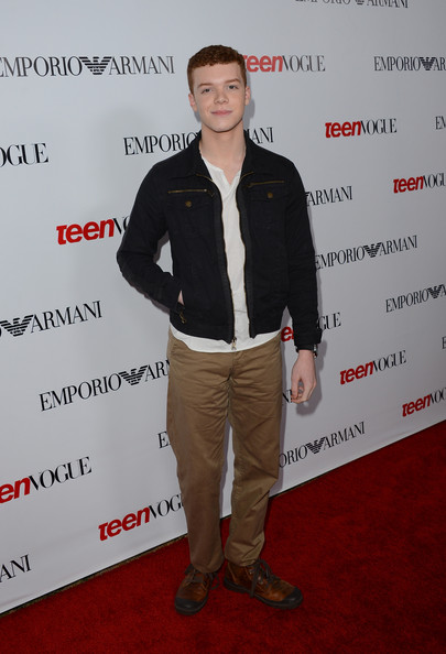 Cameron Monaghan looked suave in brown leather lace-up shoes at Teen Vogue's 10th Anniversary Young Hollywood Party.