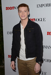 Cameron Monaghan looked sophisticated in a sleek black denim jacket at Teen Vogue's 10th Anniversary Young Hollywood Party.