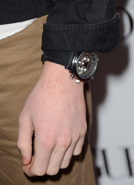 More Pics of Cameron Monaghan Leather Band Chronograph Watch (1 of 4) - Leather Band Chronograph Watch Lookbook - StyleBistro