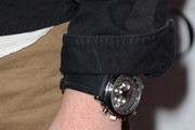Leather Band Chronograph Watch